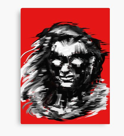 Portrait on red Canvas Print