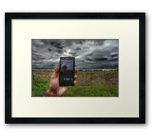 Phone photography  Framed Print