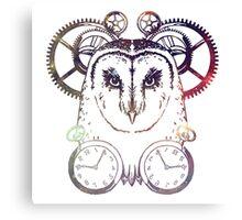 CLOCKWORK OWL - GALAXY Canvas Print