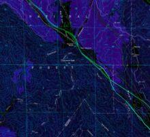 USGS TOPO Map California CA Whitaker Peak 301349 1958 24000 geo Inverted Sticker