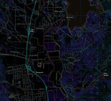 USGS TOPO Map California CA Ukiah 20120312 TM geo Inverted Sticker