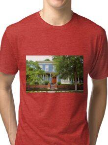 Blue And White House Tri-blend T-Shirt