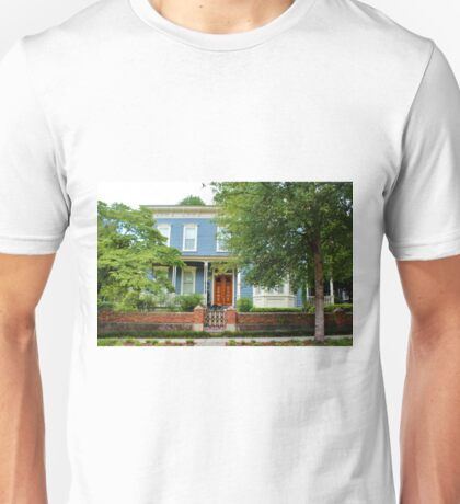 Blue And White House Unisex T-Shirt