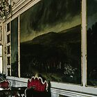 Wall paintings Schonbrunn Palace Vienna Austria 19840803 0016 by Fred Mitchell