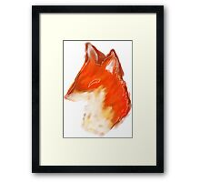 Watercolor Fox Bust Framed Print