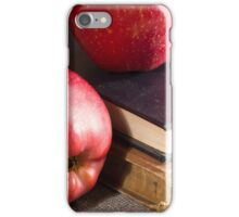 Red apples and old vintage book iPhone Case/Skin