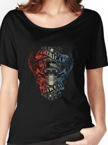 American by Birth BIKER by choice copy Women's Relaxed Fit T-Shirt