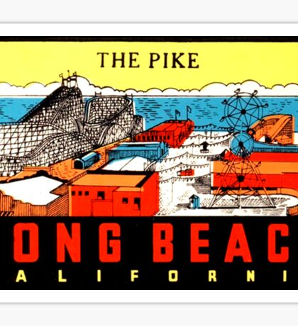 Long Beach California Vintage Travel Decal Sticker