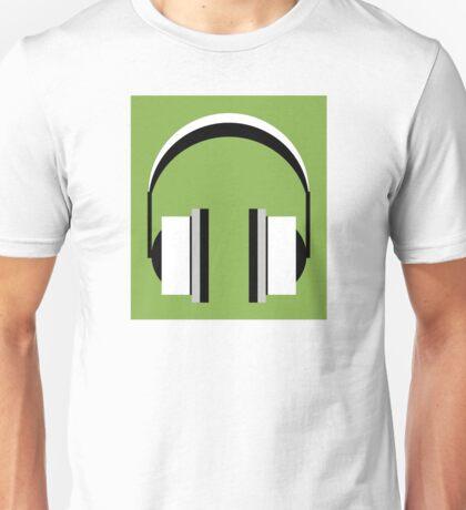 Headphones in Greenery Unisex T-Shirt