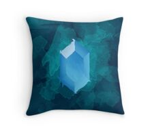 Blue Rupee Paint Throw Pillow