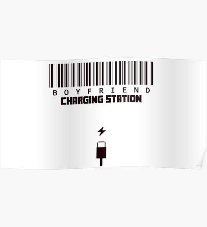 Boyfriend Charging Station Poster