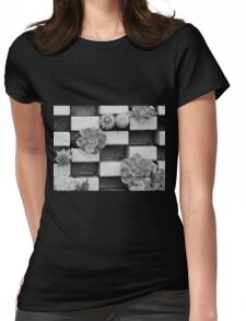 Brick Flowers Womens Fitted T-Shirt