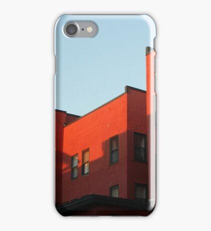 Blue Sky and Orange Building iPhone Case/Skin
