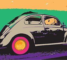 Andy Warhol Beetle Sedan by lesliewoodzell