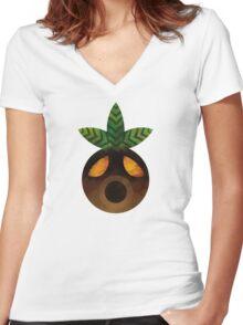 Deku Mask Paint Women's Fitted V-Neck T-Shirt