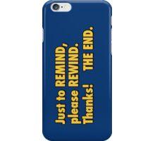 be kind rewind  iPhone Case/Skin