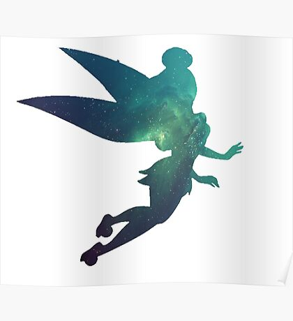 Galaxy Tinkerbell Poster