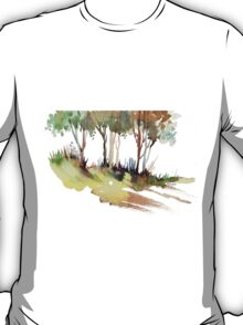 Trees on a hill T-Shirt