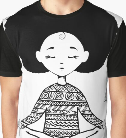 Girl sitting in the lotus position Graphic T-Shirt