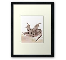 I'll Catch You :: Toothless Framed Print