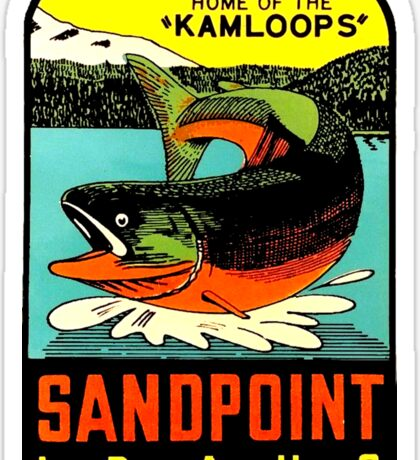 Sandpoint Idaho Vintage Travel Decal Sticker