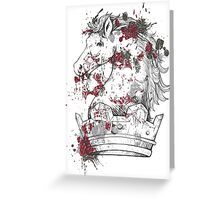 Horse King Greeting Card