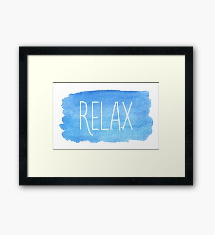 Watercolor Relax Framed Print