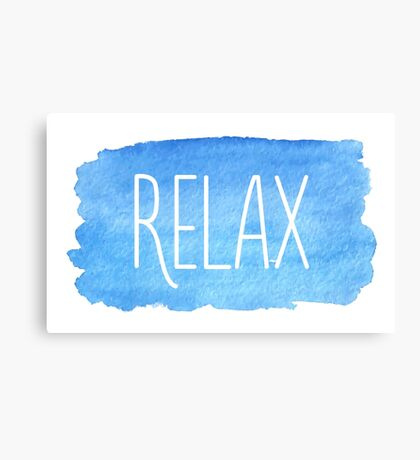 Watercolor Relax Canvas Print