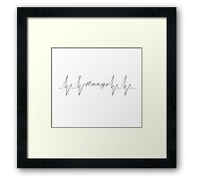 The Beat of My Heart Framed Print