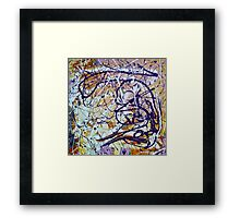 Abstract Painting, Brush & Poured Framed Print