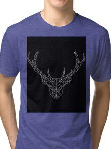 Geometric Deer Tri-blend T-Shirt
