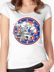 Ghostbusters of Hazzard - Franchise Logo Women's Fitted Scoop T-Shirt