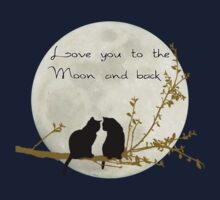 Love you to the moon and back Baby Tee