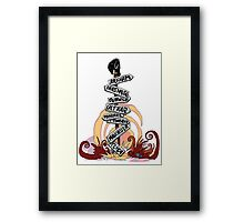This Way Lies Madness Framed Print