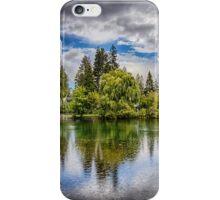 Dark Clouds Around Mirror Pond iPhone Case/Skin