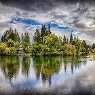 Dark Clouds Around Mirror Pond by John Williams