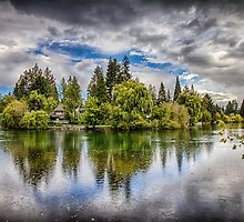 Dark Clouds Around Mirror Pond by John Williams