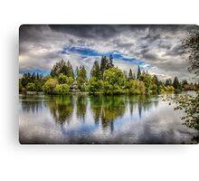 Dark Clouds Around Mirror Pond Canvas Print