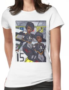 The Crew of Bird 222 Womens Fitted T-Shirt