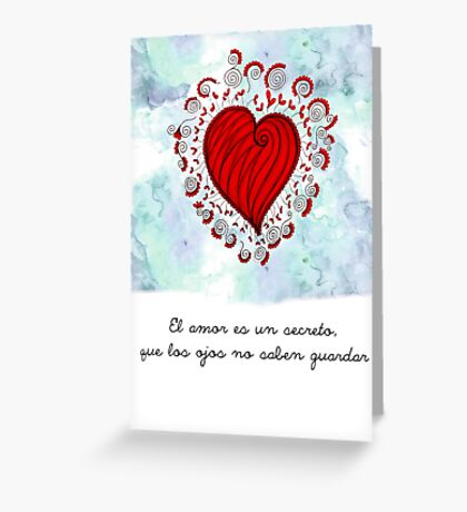 El amor Spanish quote Greeting Card