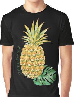 Pineapple on Black Graphic T-Shirt