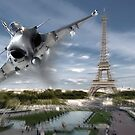 Raffele over Paris by Bob Martin