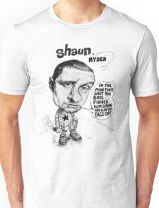 Shaun Ryder sings Lazyitis Unisex T-Shirt