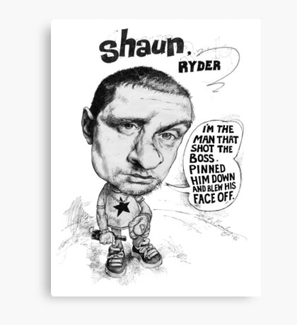 Shaun Ryder sings Lazyitis Canvas Print