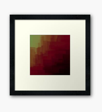 Red to yellow blocks Framed Print