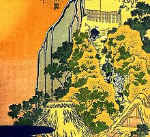 'Waterfalls in All Provinces' by Katsushika Hokusai (Reproduction) by Roz Abellera Art Gallery