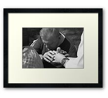 Time in touch Framed Print