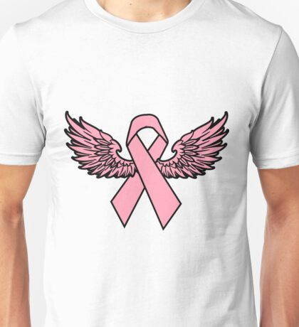 Winged Breast Cancer Awareness Ribbon Cancer Awareness Shirts Unisex T-Shirt