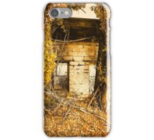 Boarding House Ruins with Poplars iPhone Case/Skin