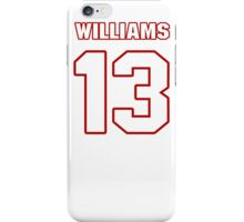NFL Player Nick Williams thirteen 13 iPhone Case/Skin